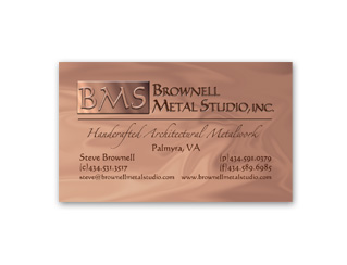 Brownell Metal Studio Business Card