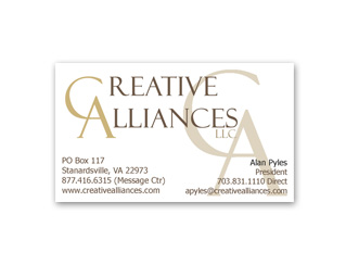 Creative Alliances Business Card